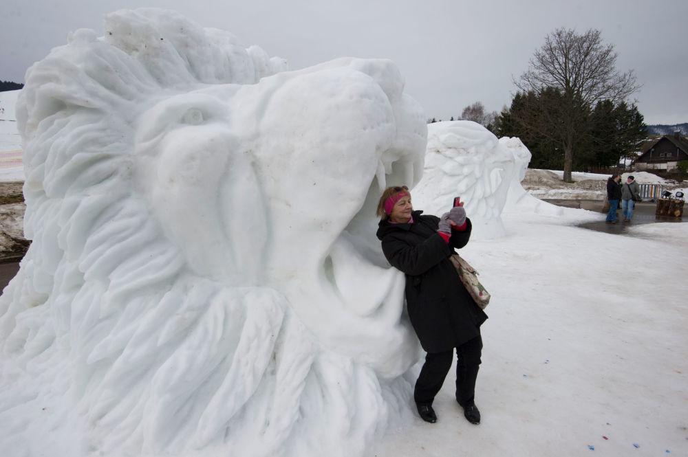 Dünyadan göz alıcı kardan heykeller