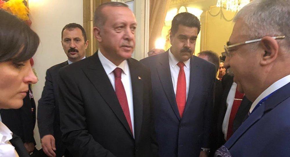 Cumhurbaşkanı Recep Tayyip Erdoğan - Venezüella Devlet Başkanı Nicolas Maduro