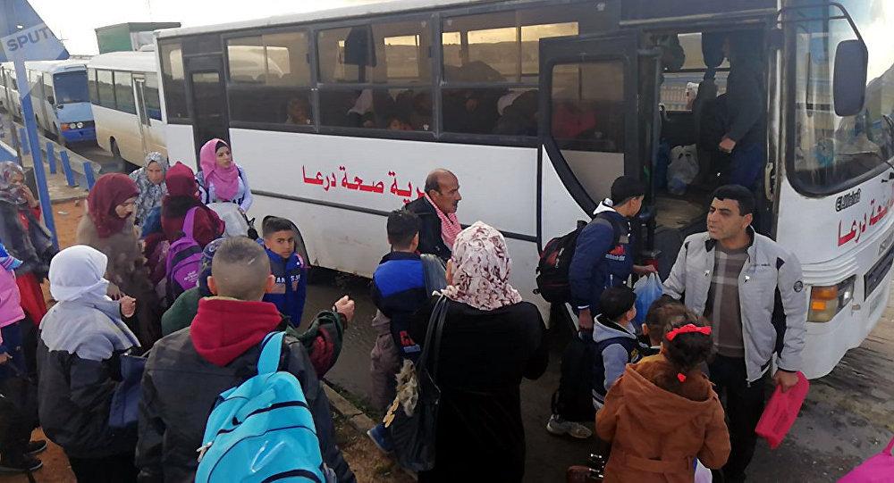 Ürdün'den dönen Suriyeliler