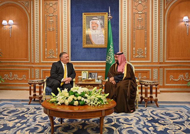 ABD Dışişleri Bakanı Mike Pompeo- Suudi Veliahtı Bin Selman