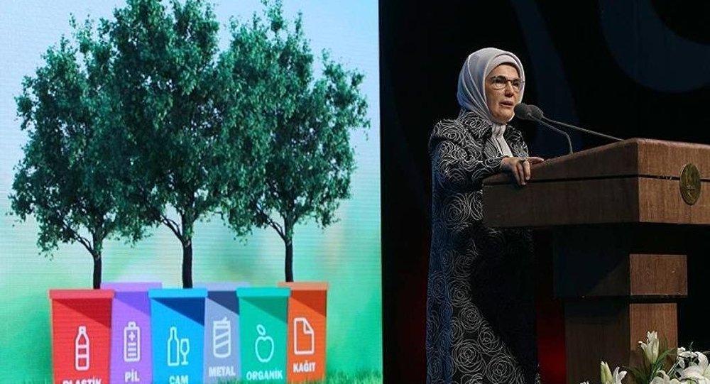 Emine Erdoğan'ın himayesinde başlatılan Sıfır Atık Projesi