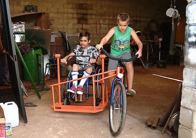 Arjantin'de engelliler için bisiklet icat edildi