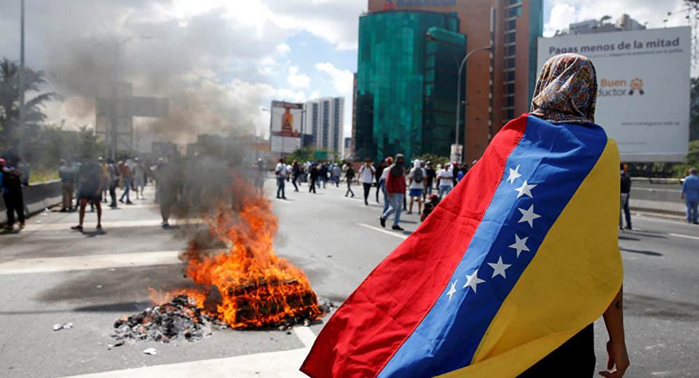 Venezüella'da devlet başkanı Nicolas Maduro'ya karşı düzenlenen gösteriler