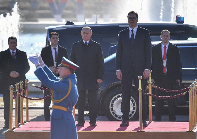 Vladimir Putin ile Aleksandr Vucic
