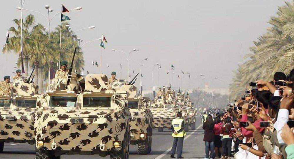 Katar askeri geçit, zırhlı araç