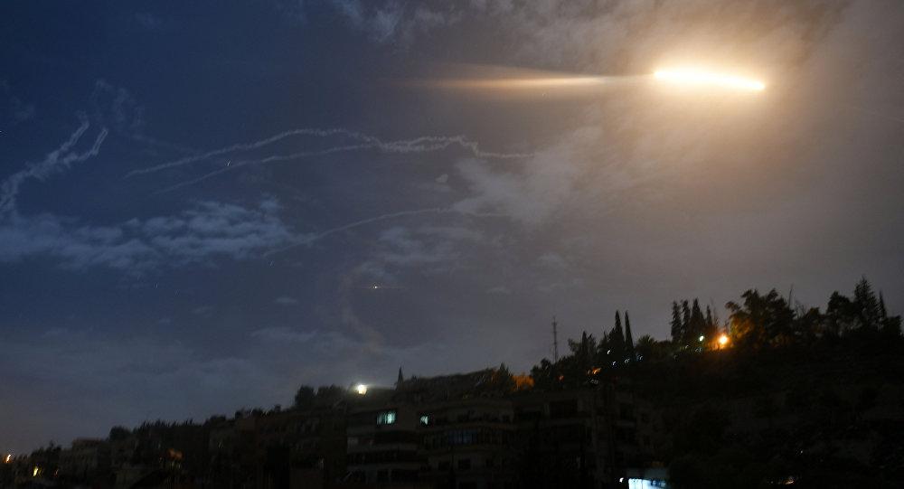 Suriye'nin başkenti Şam'da İsrail'in 21 Ocak'taki füze saldırısı