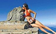 bikinili dağcı Gigi Wu