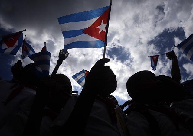 Küba bayrağı