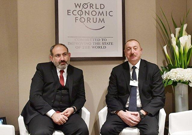 Azerbaycan Cumhurbaşkanı Aliyev, Ermenistan Başbakanı Paşinyan ile Davos'ta görüştü