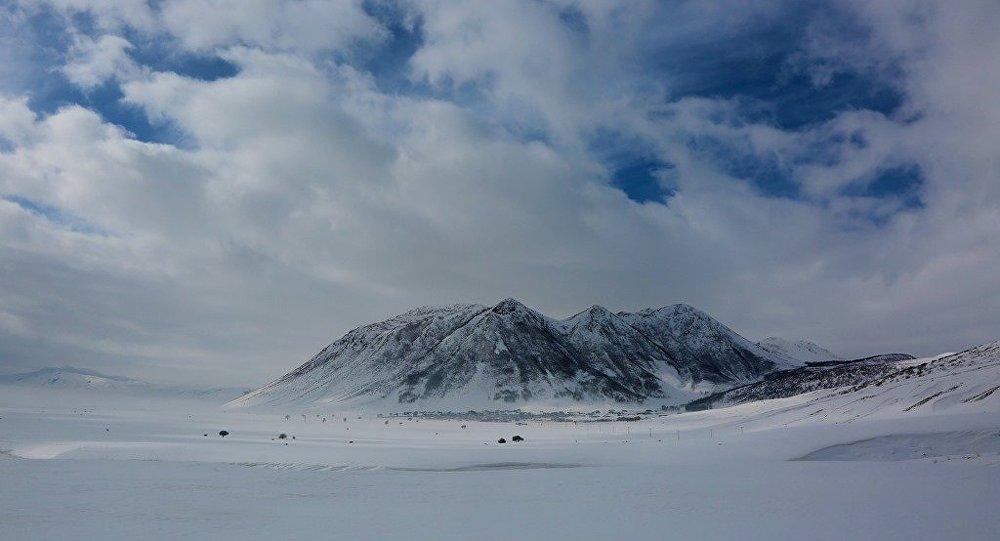 Doğu Anadolu'da kar manzaraları