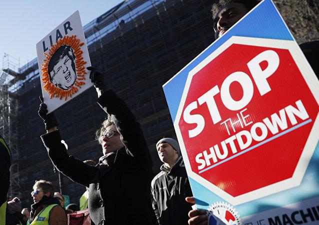 ABD'de federal hükümetin kapanmasını protesto eden göstericiler