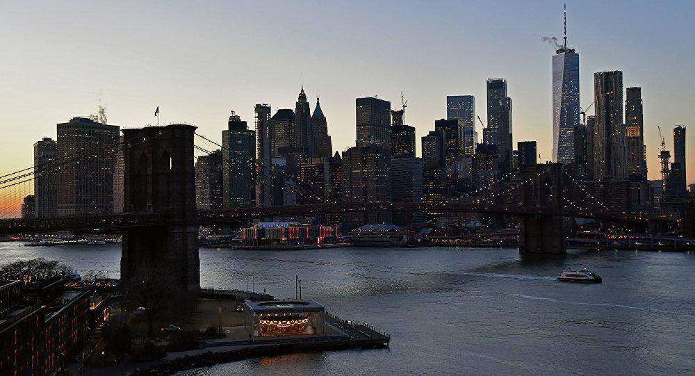 ABD'nin New York kentindeki Manhattan yarımadasından bir kare