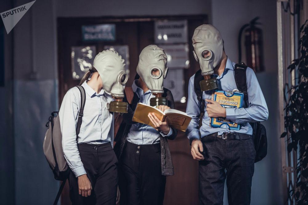 Bişkek'te hava kirliliği sorunu