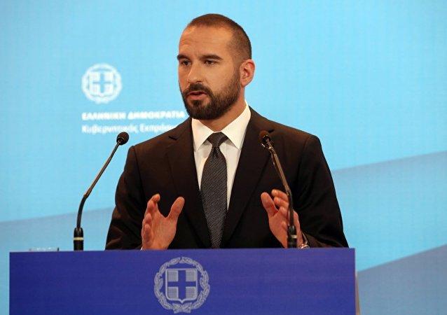 Yunanistan hükümet sözcüsü Dimitris Tzanakopoulos