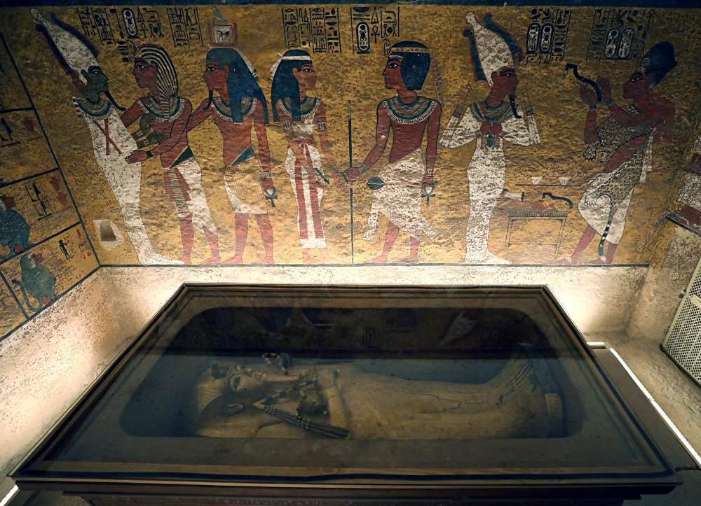 Tutankamon'un restore edilen mezarı
