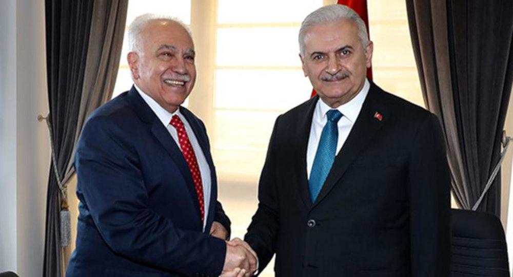 TBMM Başkanı ve AK Parti İstanbul Büyükşehir Belediye Başkan Adayı Binali Yıldırım, Vatan Partisi Genel Başkanı Doğu Perinçek ile görüştü.