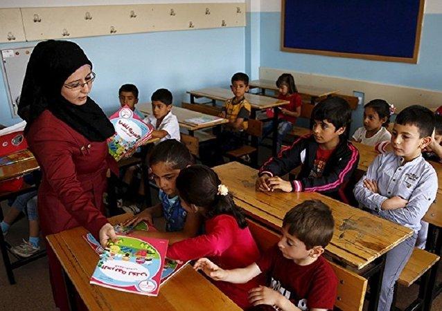 Suriyeli çocuklar - okul