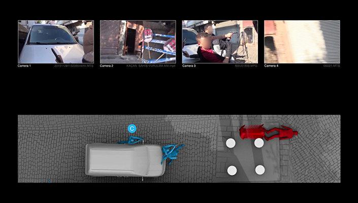 Raporda, dört eşzamanlı hale getirilen video kaydının ses ve görüntü kanalları analiz edilerek, araştırmaya konu olan zaman aralığı içinde duyulan ve görülen tüm silah atışları sayıldı ve kayda geçildiği belirtildi. Böylece hangi atışların, olay yerinde bulunan hangi bireyler tarafından yapıldığı tespit edilerek işaretlendi.