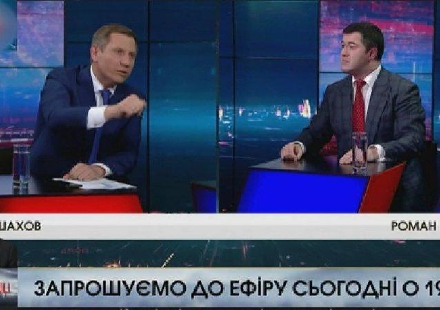 Canlı yayında Ukrayna başkan adayının yüzüne su fırlattı