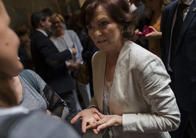 Carmen Calvo, la vicepresidenta del Gobierno español