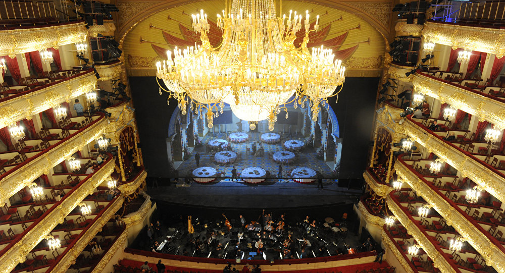 Run-through of Ruslan and Lyudmila opera at the Bolshoi Theater in Moscow