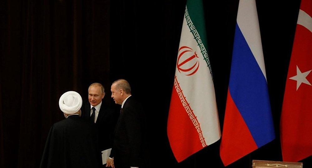 Recep Tayyip Erdoğan - Hasan Ruhani - Vladimir Putin - Soçi Üçlü Zirve