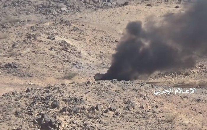 Husilerin Suudi ordusuna ait ABD yapımı zırhlı araçları infilak ettirdiği anlar