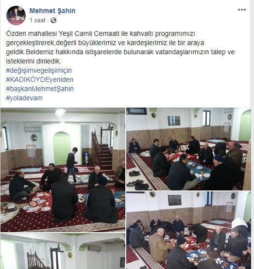 Mehmet Şahin'in kişisel Facebook hesabında yaptığı paylaşım.