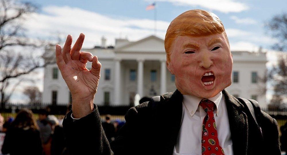 Beyaz Saray önünde 'ulusal acil durum' protestosu: 'Duvarı Trump'ın etrafına örün, bizi kurtarın'
