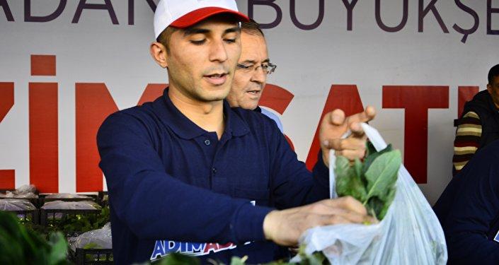Adana'da açılan tanzim satış mağazası