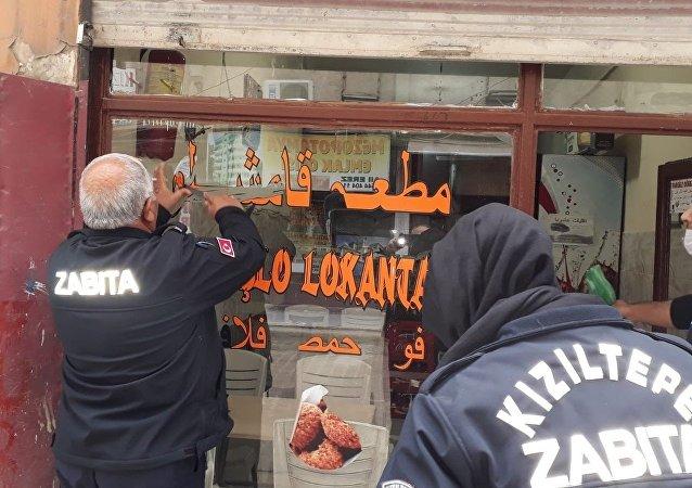 Mardin Kızıltepe -  Arapça yazılı tabelalar kaldırılıyor