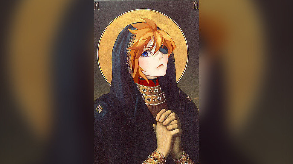 Rusya'da anime şeklide tasarlanan ikonalar infial yarattı
