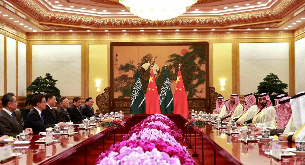 Muhammed Bin Selman, Çin Devlet Başkanı Şi Cinping ile bir araya geldi