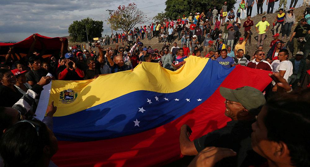Venezüella'da Nicolas Maduro hükümetine destek eylemi