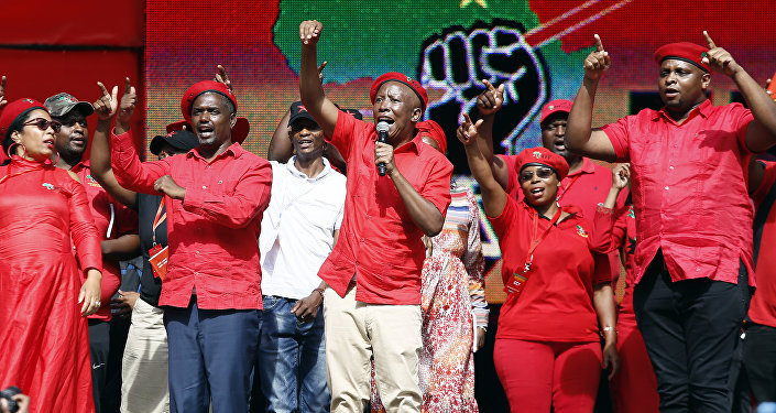 Güney Afirka Ekonomik Özgürlük Savaşçıları (Economic Freedom Fighters-EFF) lideri Julius Malema