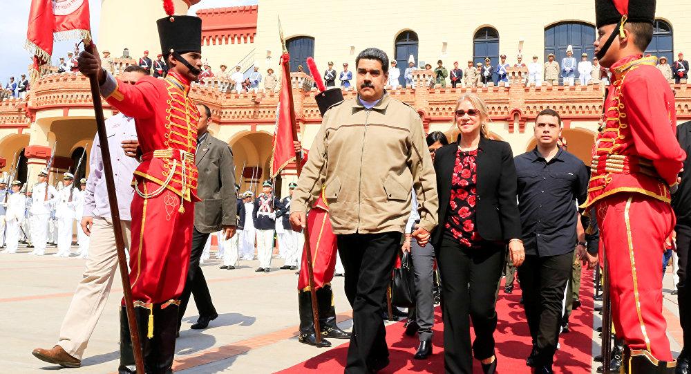 Venezüella Devlet Başkanı Nicolas Maduro, bir önceki başkan Hugo Chavez'in 6. ölüm yıldönümü için düzenlenen anma törenine katıldı