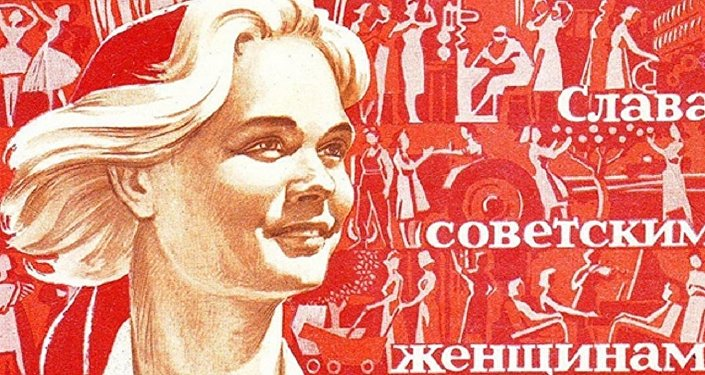 Sovyetler Birliği'nde yapılan Dünya Kadınlar Günü afişi