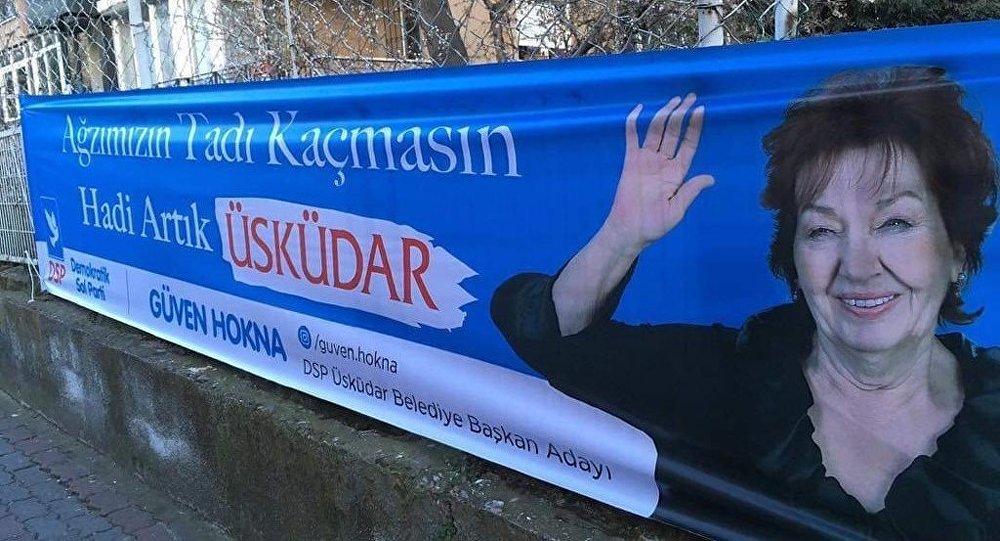DSP'nin Üsküdar adayı Güven Hokna seçim çalışmalarına Yaprak Dökümü'ndeki repliğiyle başladı