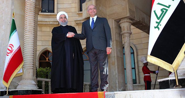 İran Cumhurbaşkanı Hasan Ruhani - Irak Cumhurbaşkanı Berhem Salih
