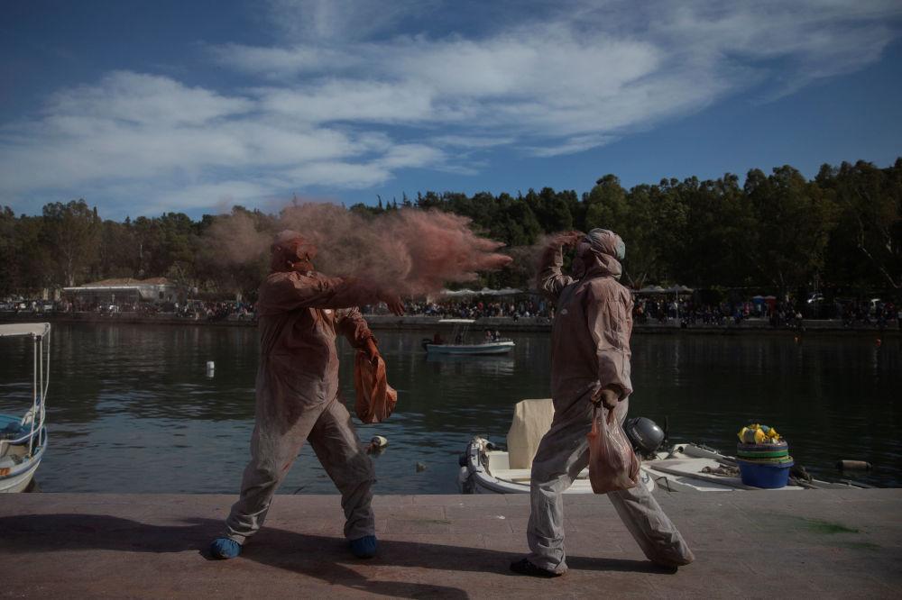 Yunanistan'da geleneksel un savaşı