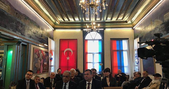 """Ankara'da, Kırım'ın Rusya'ya bağlanmasının 5. yılı nedeniyle """"Kırım Gerçekleri-Modern Jeopolitikte Kırım"""" başlıklı bir etkinlik düzenlendi."""
