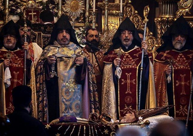 Mesrob Mutafyan cenaze töreni