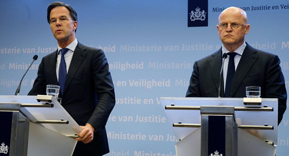 Hollanda Başbakanı Rutte - Adalet ve Güvenlik Bakanı Ferd Grapperhaus