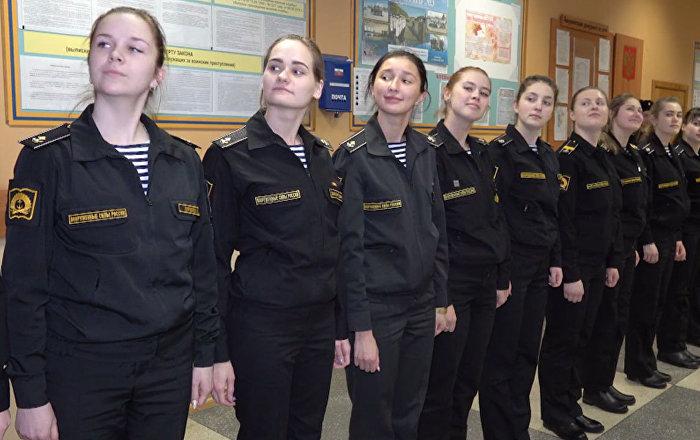 Rusya'da kızlar askeri denizcilik okuyor