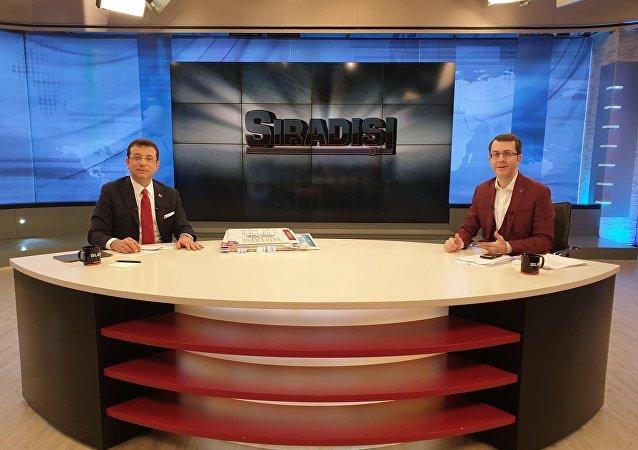 """CHP İstanbul Büyükşehir Belediye Başkan Adayı Ekrem İmamoğlu, Ülke TV'de yayınlanan """"Sıradışı"""" programında Turgay Güler'in sorularını yanıtladı."""