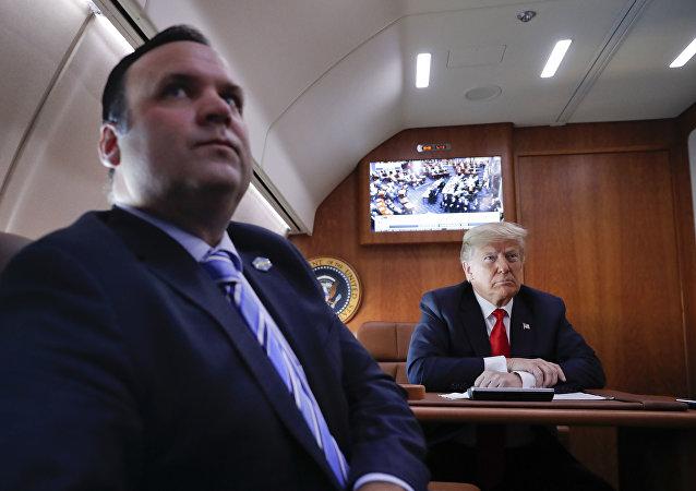 ABD Başkanı Donald Trump ve Sosyal Medya Direktörü Dan Scavino