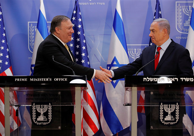 Netanyahu, bölgesel tur kapsamında İsrail'e gelen ABD Dışişleri Bakanı Mike Pompeo ile Batı Kudüs'teki Başbakanlık Ofisi'nde görüştü.
