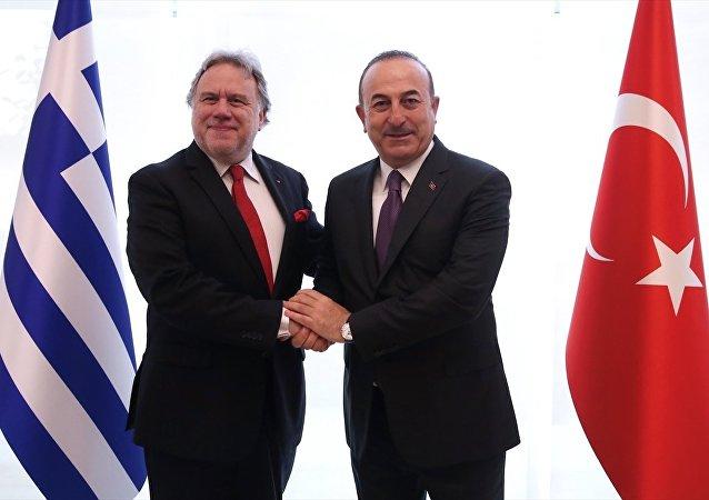 Mevlüt Çavuşoğlu - Georgios Katrugalos
