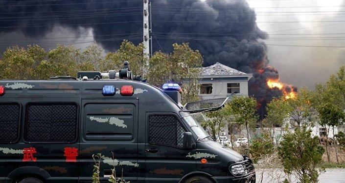 Çin'in doğusundaki Ciangsu eyaletindeki bir kimya tesisinde meydana gelen patlama