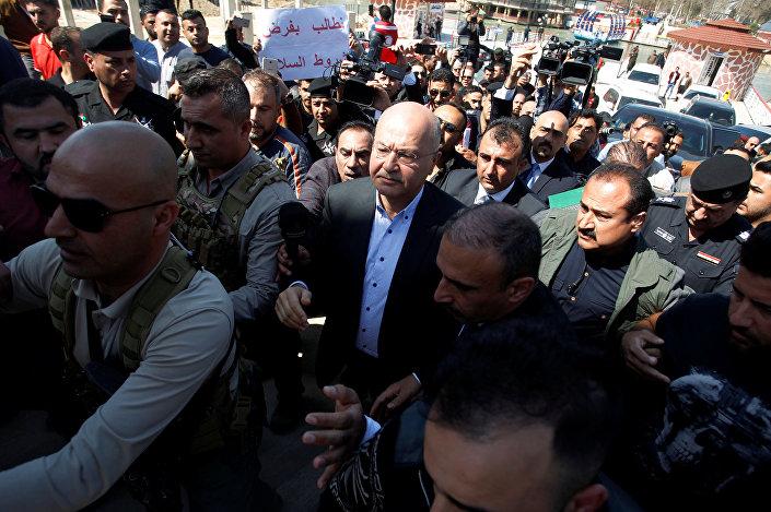 Irak Cumhurbaşkanı Berhem Salih de olay üzerine bugün Musul'a gitti.
